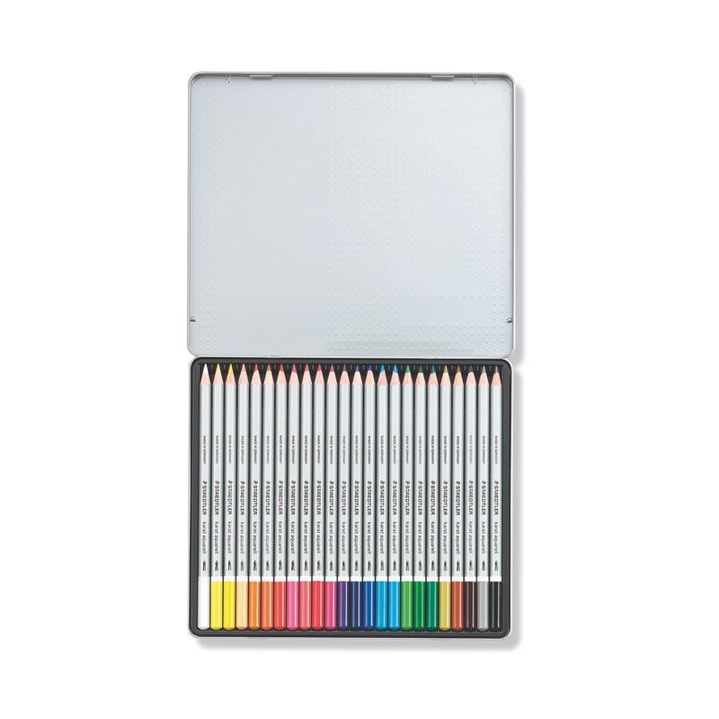 Lápiz acuarelable Karat caja de metal 24 colores