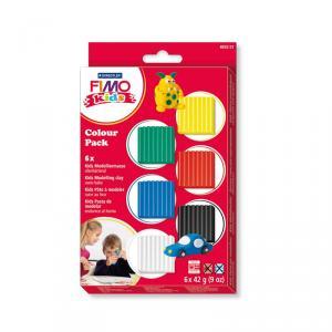 Pasta Fimo Kids 6 colores Basic 42gr
