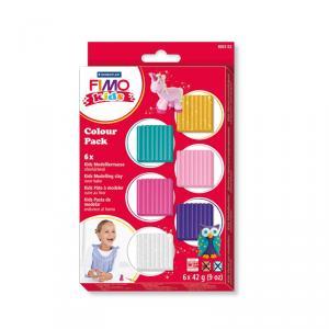 Pasta Fimo Kids 6 colores Girlie 42gr