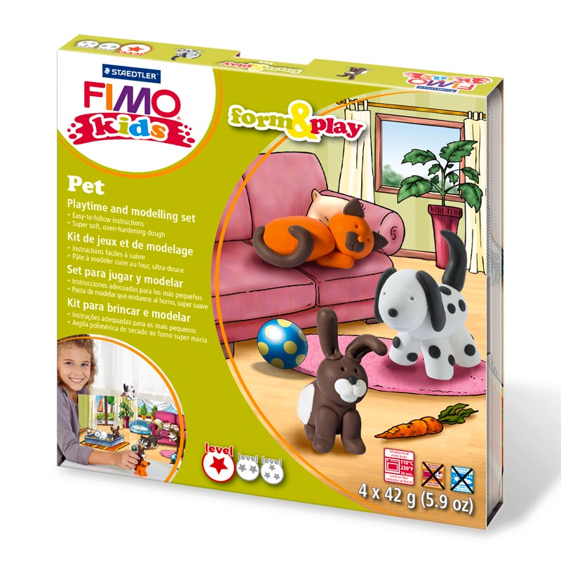 Kit pasta Fimo Kids Mascotas