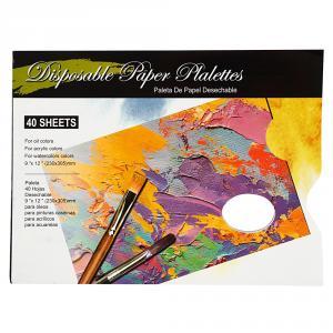 Paleta desechable de papel 31x23cm set 40 hojas