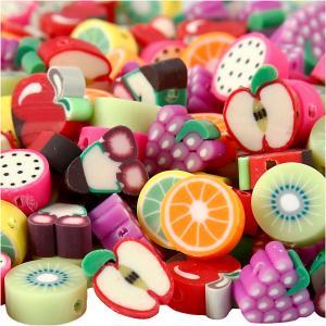 Abalorios de arcilla formas frutas 200 uds.