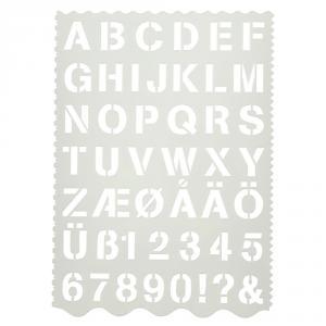 Plantilla letras y números blíster 1 unidad