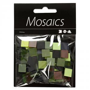 Teselas mini mosaico 10mmx10mmx2mm tonos verdes bolsa 25gr.