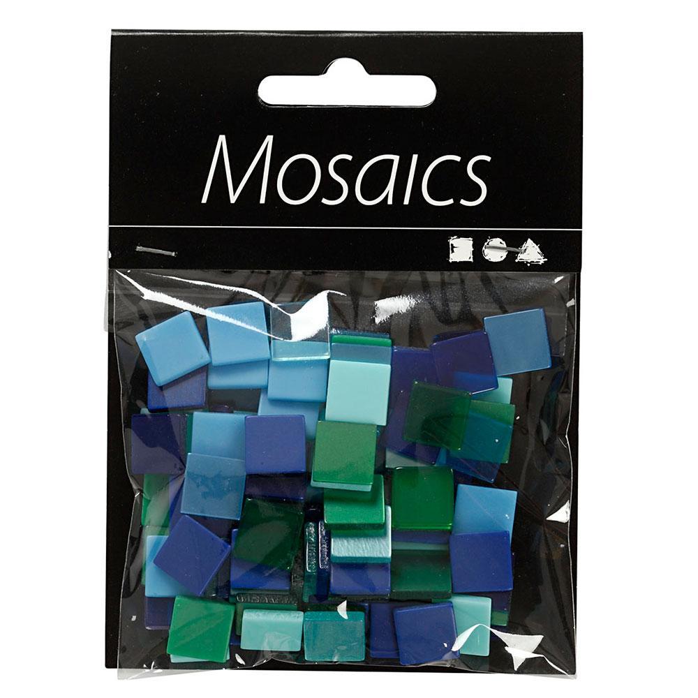 Teselas mini mosaico tonos azules y verdes