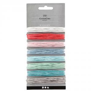 Cordón algodón grosor 1mm 8 colores x 5metros
