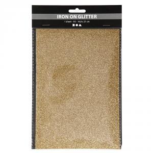 Papel aluminio para planchar A5 oro brillante set 1hoja