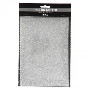 Papel aluminio para planchar A5 plata brillante blíster 1 hoja