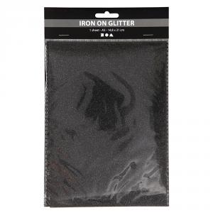 Papel aluminio para planchar A5 negro brillante blíster 1 hoja