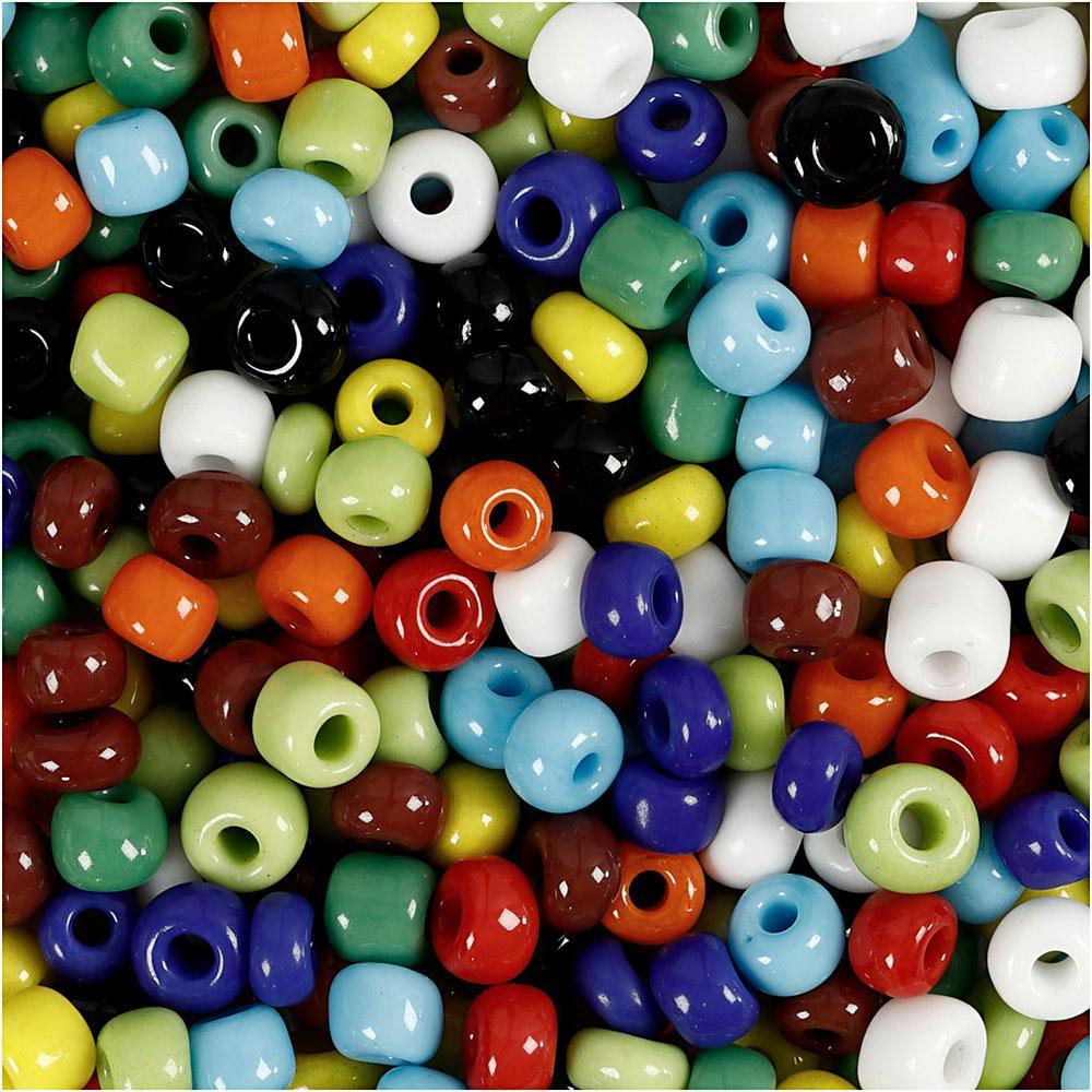 Abalorios cristal color surtido 4mm blíster