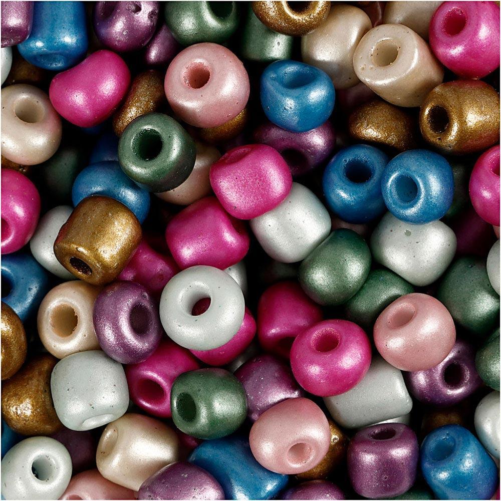 Mini abalorios cristal 5mm colores metalizados