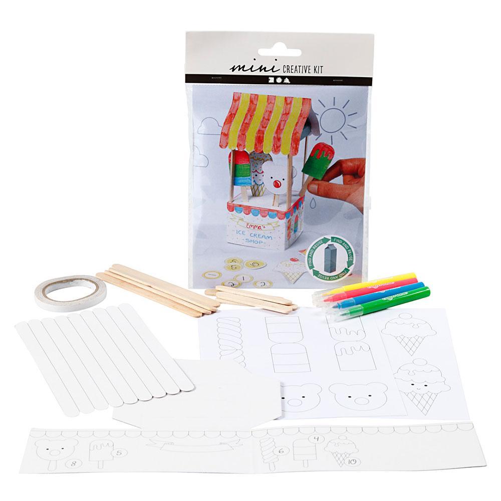 Mini kit crea heladería con cartón de leche