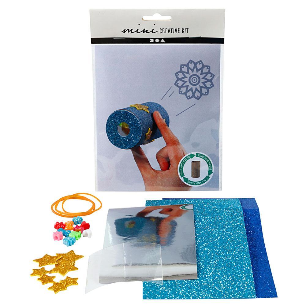 Mini kit crea caleidoscopio con rollo de papel higiénico