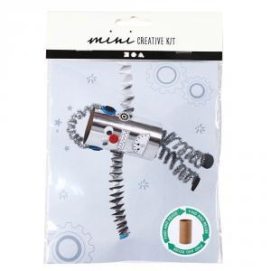 Mini kit crea robot con papel higiénico