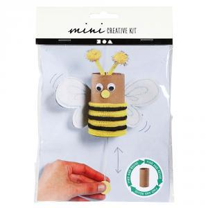Mini kit crea abeja saltarina con papel higiénico