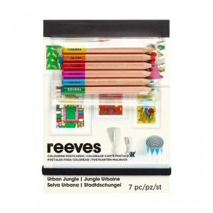 Set postales para colorear jungla urbana
