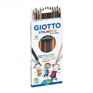 Lápiz color tono piel Giotto Stilnovo 12 unidades