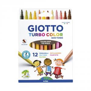 Rotulador tono piel Giotto Turbo Color 12 unidades