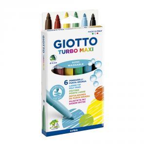 Rotuladores Turbo Maxi 6 colores