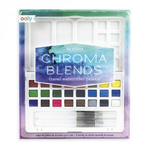 Acuarelas con 2 pinceles de agua Chroma Blends (24 colores)