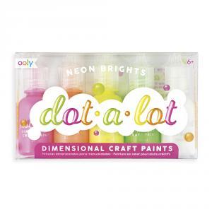Pintura dimensional dot-a-lot 5 colores neón