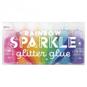 Pegamento Rainbow sparkle 6 colores