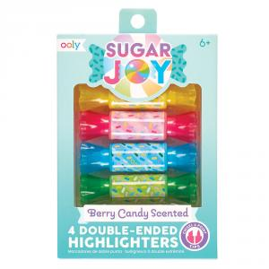 Set 4 marcadores doble punta con aroma caramelos