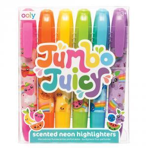 Marcador Jumbo Juicy neón 6 colores con aromas frutas