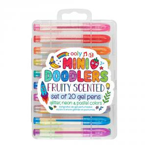 Set 20 mini bolígrafos gel de colores con aroma