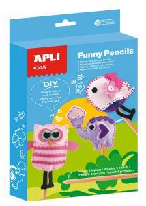 Set figuras para decorar lápices