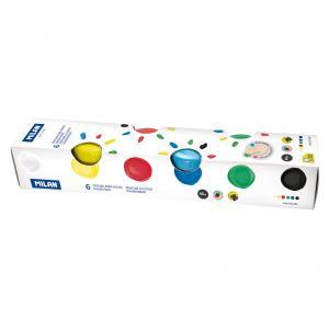 Pintura dedos 40ml set 6 colores