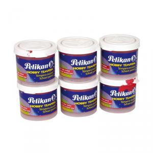 Témpera Pelikan rojo carmín 6 unidades 40ml