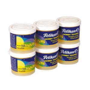 Témpera Pelikan amarillo 6 unidades 40ml