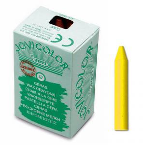 Ceras unicolor amarillo 12 unidades