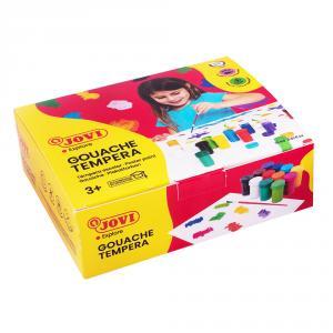 Témpera escolar 12 colores con pincel
