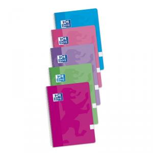 Cuaderno A4 Oxford Classic T. blanda plastificada cuadro 4x4 (80 hj) colores pastel surtidos