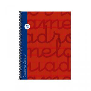 Cuaderno Cuadrovía Lamela cuarto 4mm 80h rojo