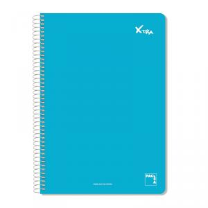 Cuaderno folio Institut milimetrado t. dura colores surtidos 80hj.
