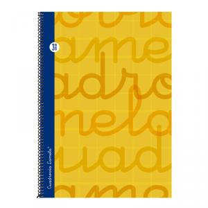 Cuaderno Cuadrovía Lamela folio 3mm 80h naranja (T. dura)