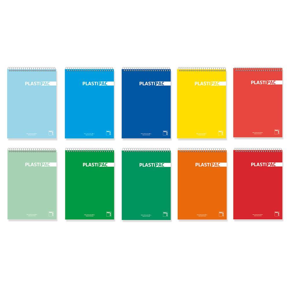 Bloc notas A6 cuadrícula 5x5 Plastipac 80hj 90gr (colores surtidos)