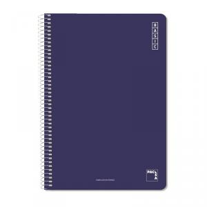 Cuaderno folio Basic cuadrícula 4mm. Colores surtidos 80hj.