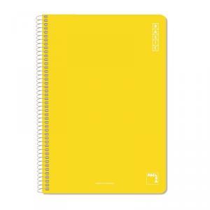 Cuaderno folio Basic milimetrado Colores surtidos 80hj.
