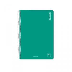 Cuaderno cuarto Basic raya 8mm. Colores surtidos 80hj.