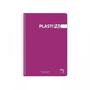 Cuaderno cuarto Plastipac PP pauta 2,5mm. Colores surtidos 80hj.
