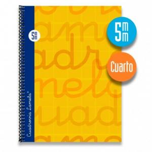 Cuaderno Cuadrovía Lamela cuarto 5mm 80h naranja (T. dura)