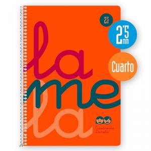 Cuaderno Cuadrovía 2,5mm 80h flúor naranja