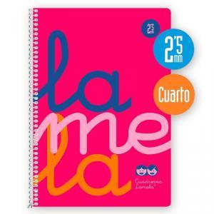 Cuaderno Cuadrovía 2,5mm 80h flúor rosa