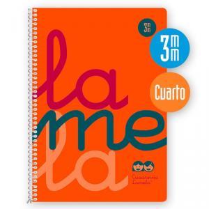 Cuaderno Cuadrovía cuarto 80h flúor naranja (polipropileno)