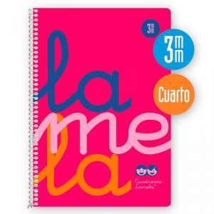 Cuaderno Cuadrovía 3mm cuarto 80h flúor rosa (polipropileno)