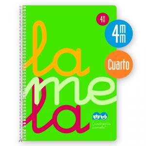 Cuaderno Cuadrovía 4 mm cuarto 80h fluor verde (polipropileno)